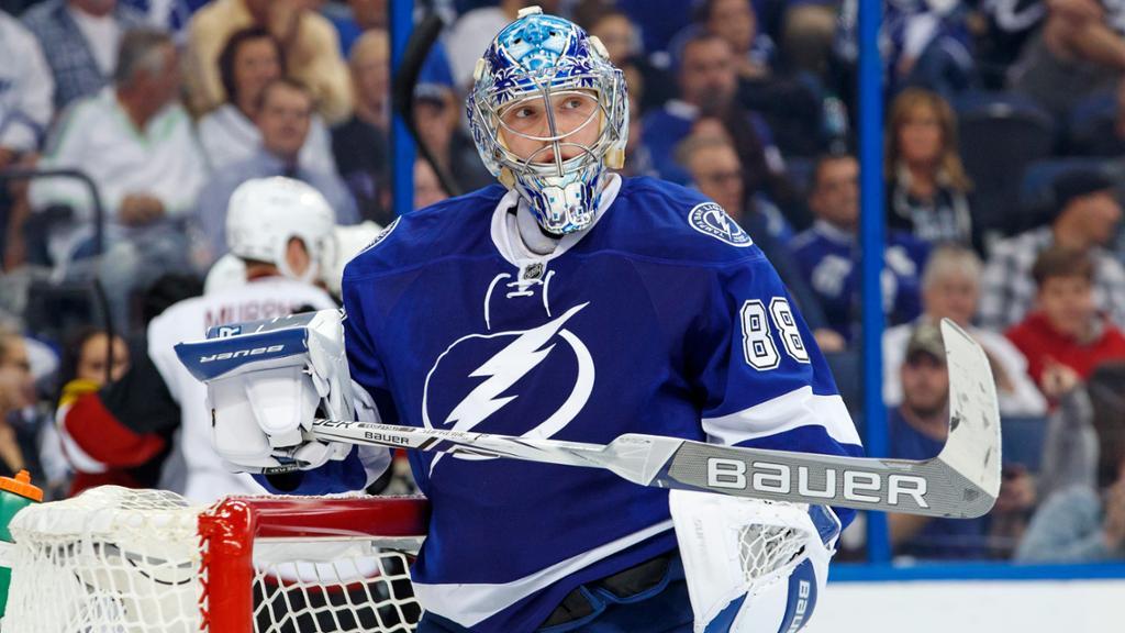 Русский вратарь «Тампы» Василевский претендует название лучшего вратаря НХЛ