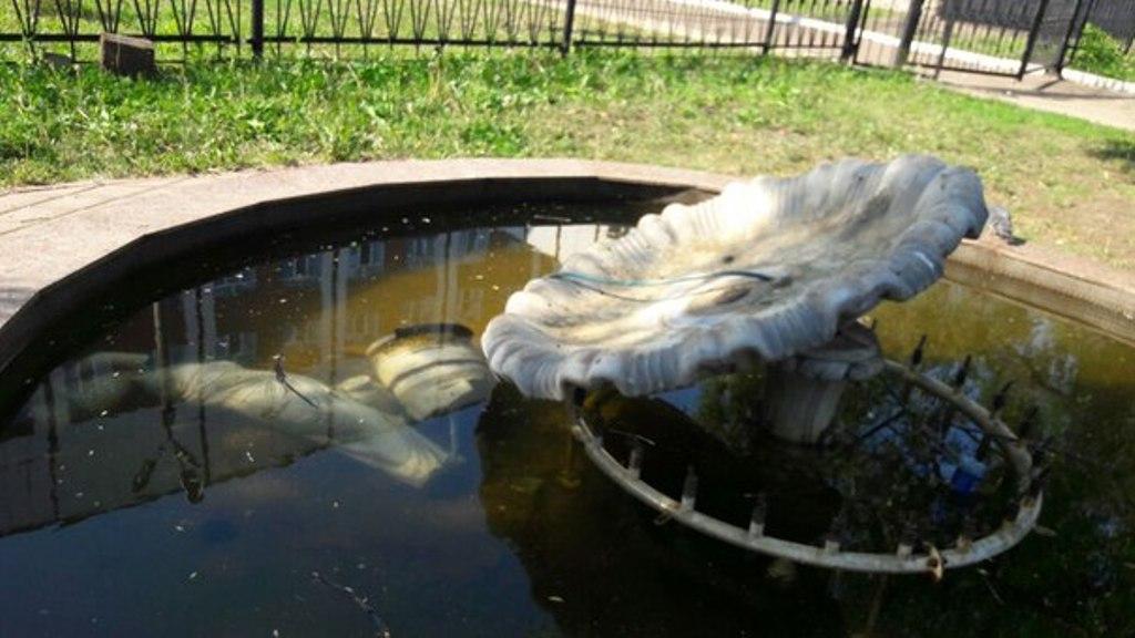 ВУфе вандалы разгромили один изгородских фонтанов